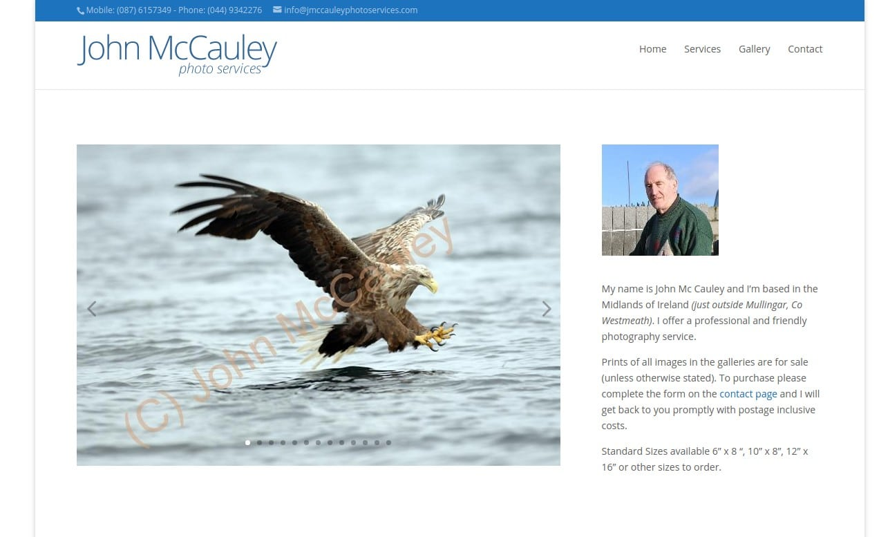 John McCauley Photo Services website